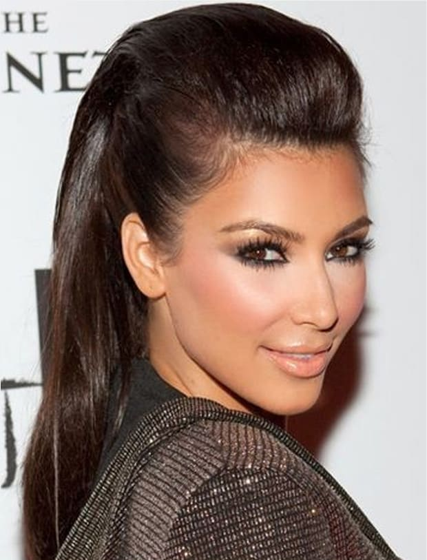 Celebrity Puff Pony Hairstyles for Party 2016