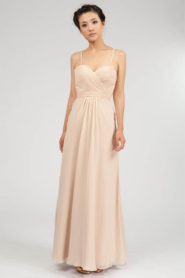 Champagne Bridesmaid Chiffon Dresses 2016