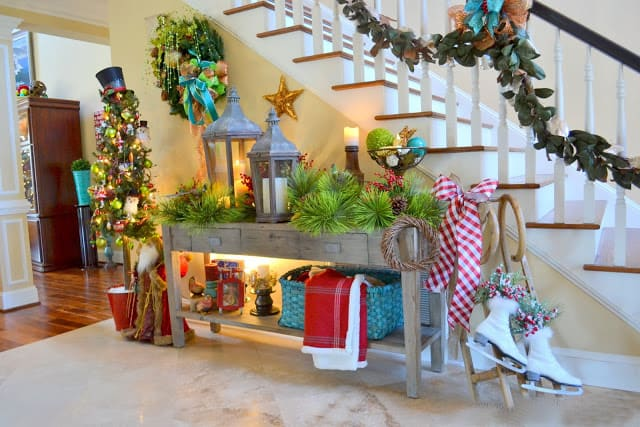 Decorating Foyer Table For Christmas : Stunning custom foyer design ideas sheideas
