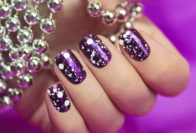 Christmas Glitter on Nails Ideas 2016-17