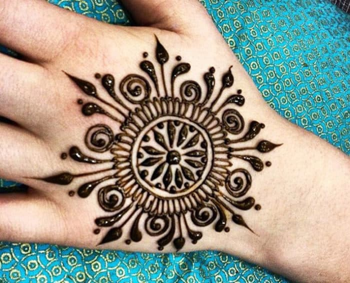 Flower Mehndi Designs For Back Hands : Stylish circle mehndi designs images sheideas