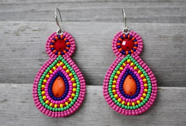 Colorful Beaded Earrings Ideas 2016