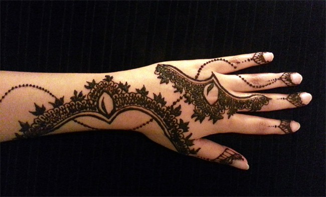 Cool Arabic Henna Tattoo Designs for Wedding