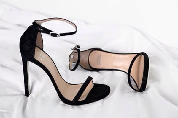 Cool Black Bow Barely There Heeled Sandals 2016