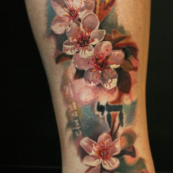 Cool Cherry Blossoms Japanese Tattoo Designs