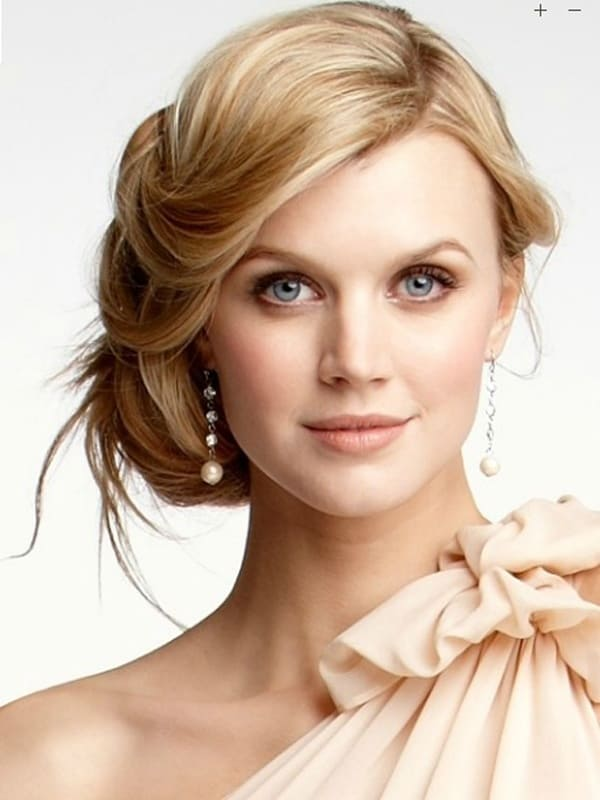 Cool Half Updo Hairstyles for Round Faces