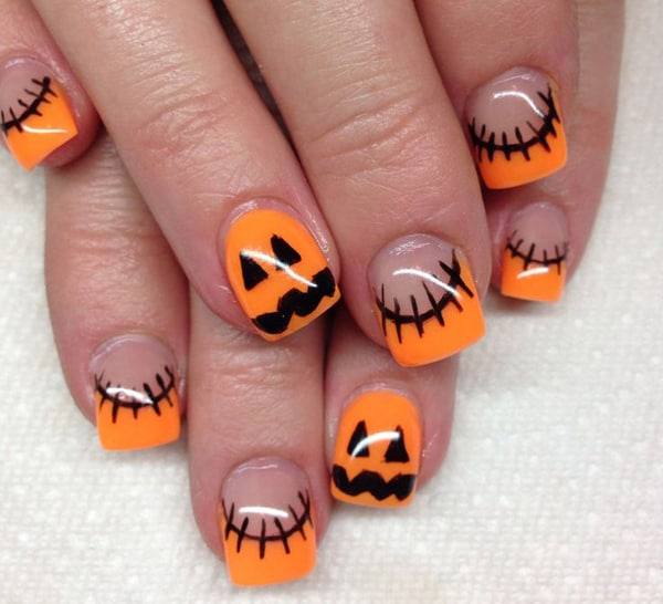 Cool Halloween Painted Nail Art Designs