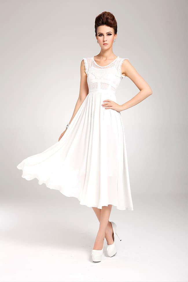 Cool Long White Summer Dresses for Women