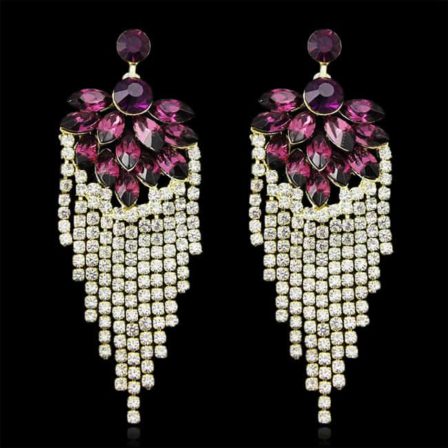 Cool Purple Chandelier New Earrings for Girls