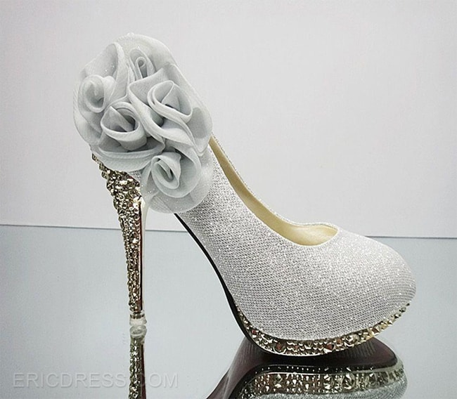 Cool Silver Prom Style Shoes for Wedding