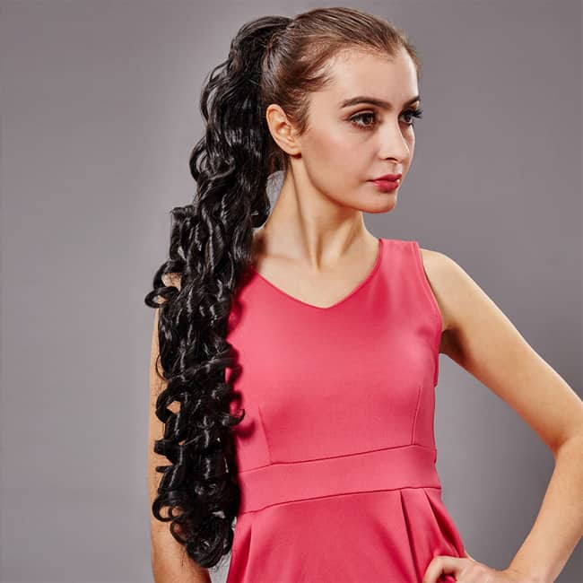 Curly Hair Long Ponytail Haircuts Ideas