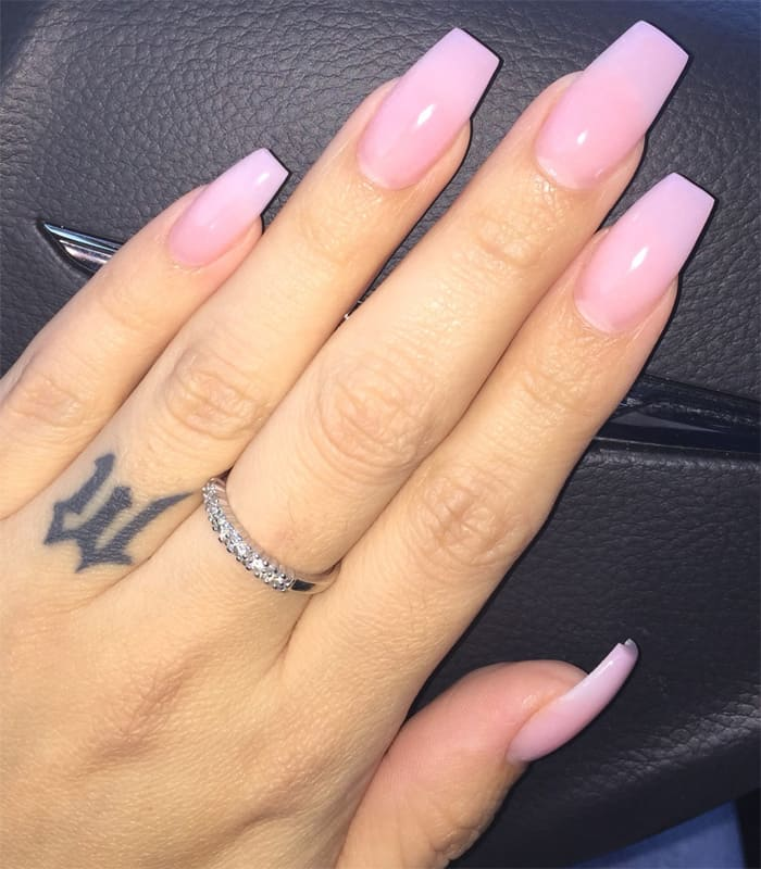 Cute Gel Nails Design Ideas In Pink Color