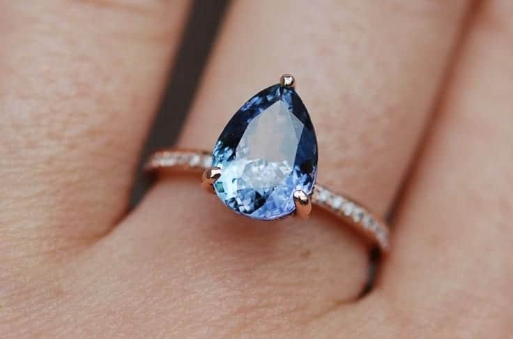 Cute Tanzanite Wedding Rings for Brides