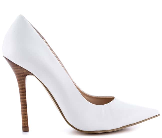 Designer White Women Leather Shoes