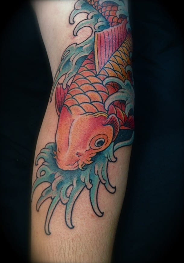 Dragon Koi Fish Forearm Tattoo Art for Evening
