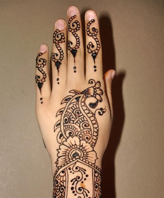 Easy Henna Patterns for Hands 2016-17