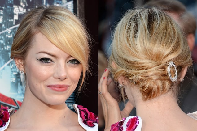 Emma Stone Loop Updo Haircuts for Women