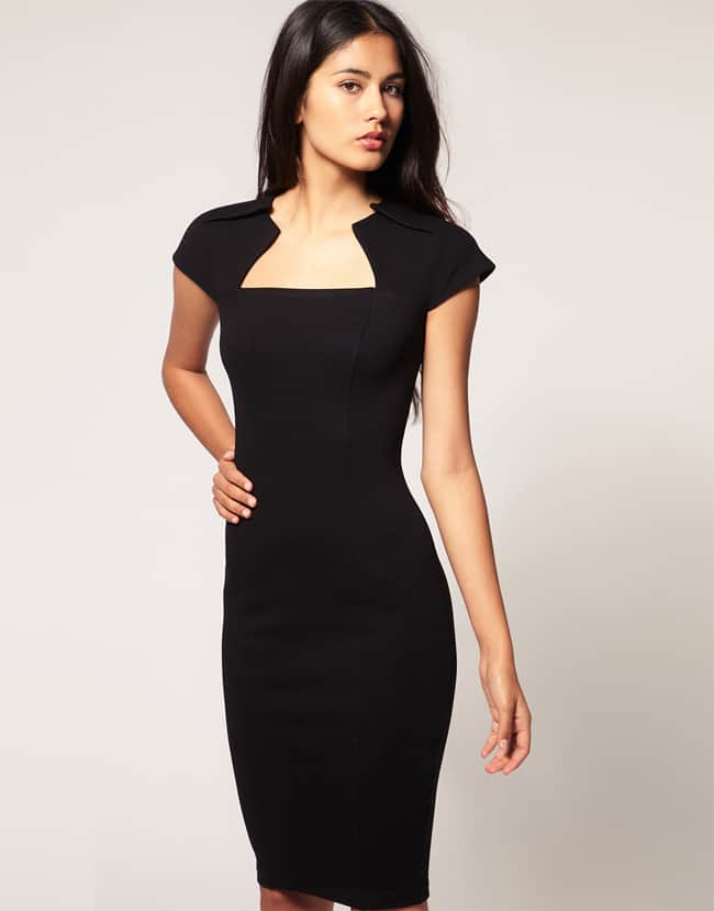 Evening Party Black Pencil Dress Designs