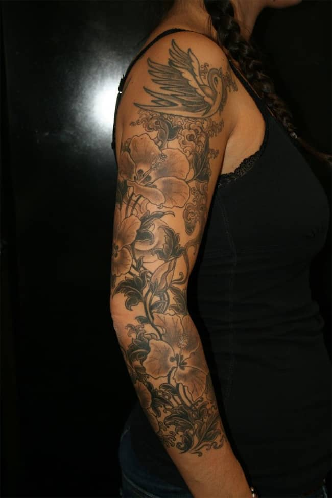 Flower Sleeve Tattoo Ideas for New Year