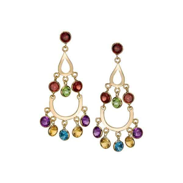 Gemstone Chandelier Style Earrings for Wedding