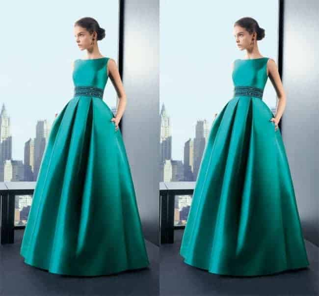 Gorgeous Green A Line Gowns Formal Dress