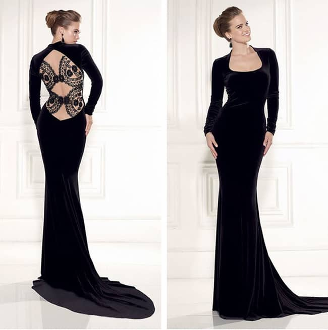 Great Black Long Dress for Evening Party