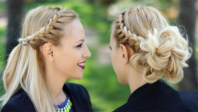 Great Braided Party Updos for Long Hair