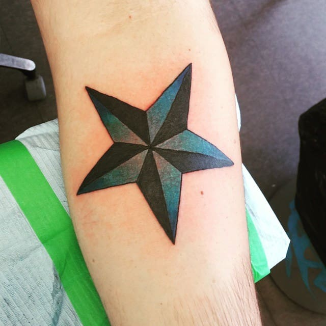 Great Five Point Star Tattoo Designs