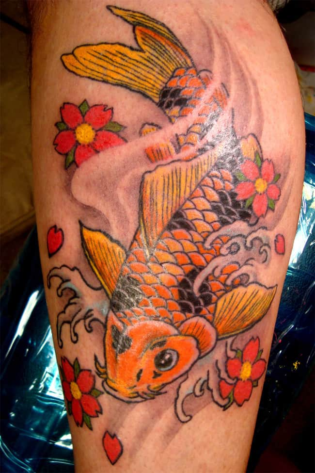 Great Koi Fishes Tattoos Ideas