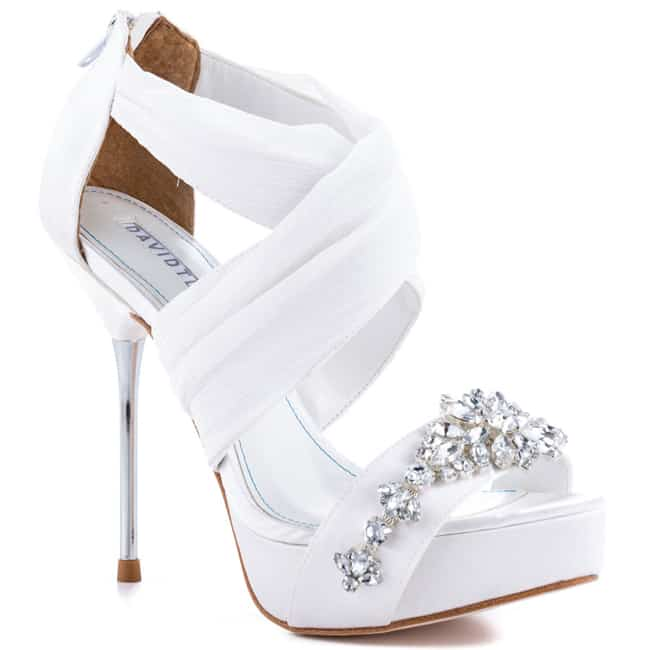 High Heel Women White Shoes Designs