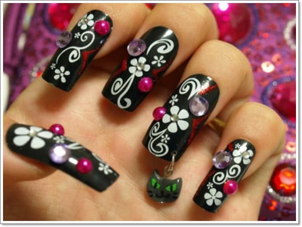 Japanese 3D Nails Art Designs for Ladies