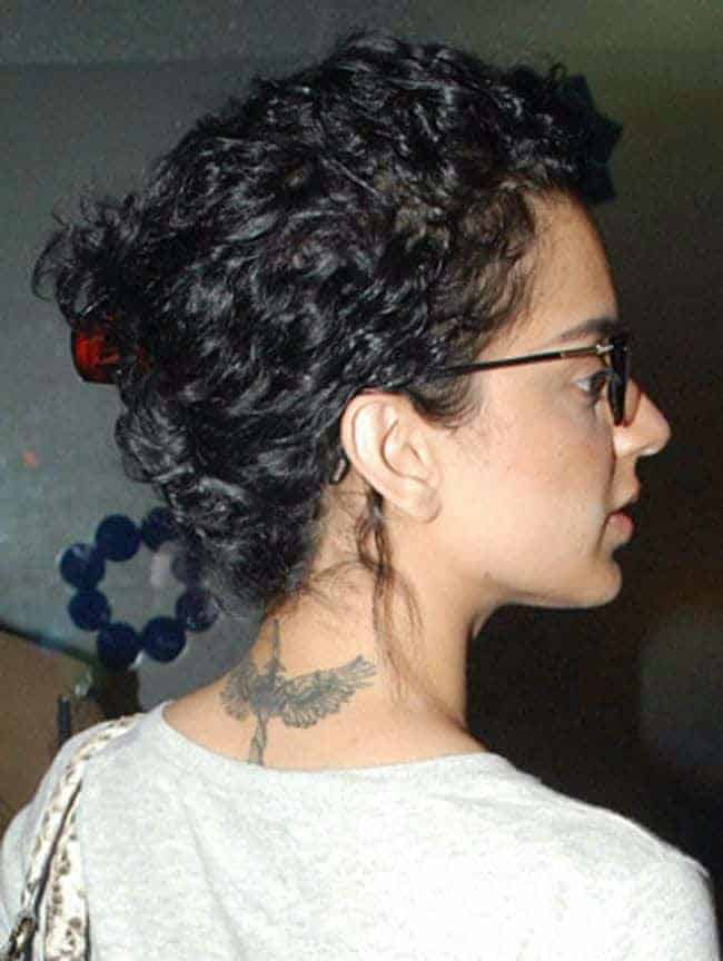 Kangana Ranaut Tattoo on Neck for Girls - bollywood stars their tattoos