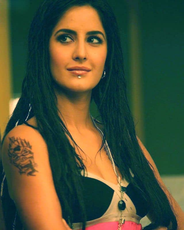 Katrina Kaif Shoulder Tattoo