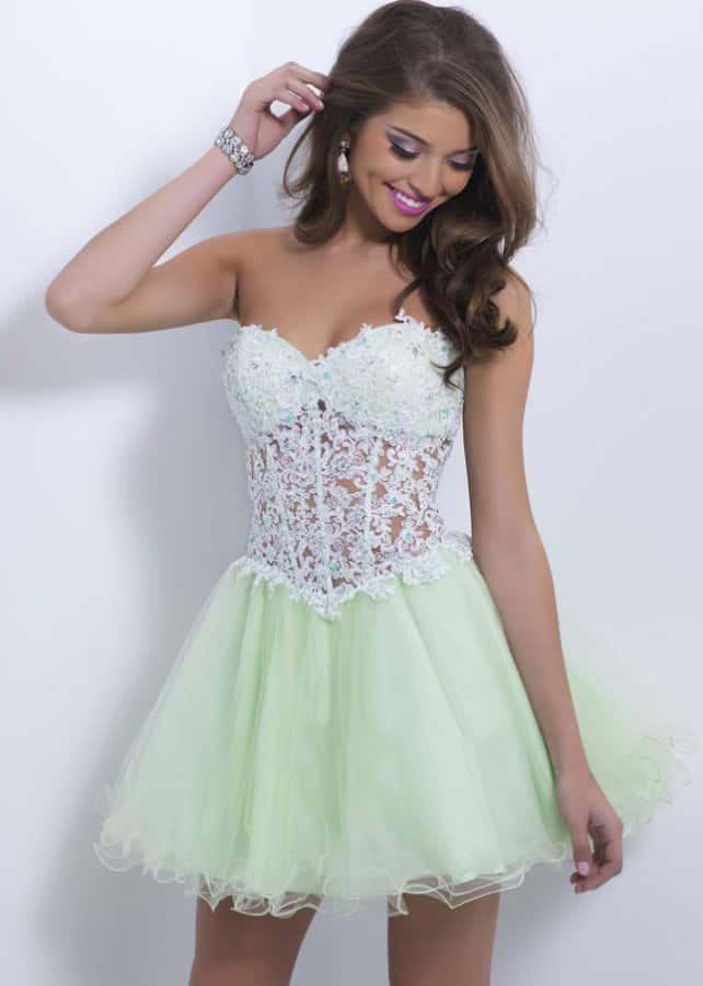 Lace Short Formal Gown Outfits Ideas