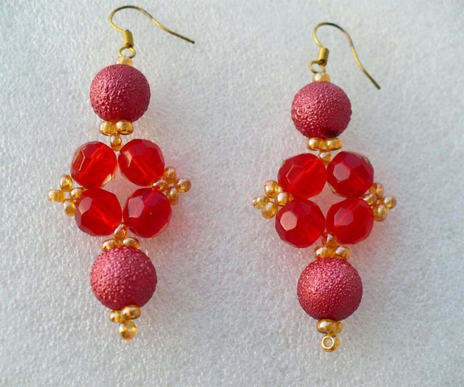 Latest Beading Earrings Patterns for Girls
