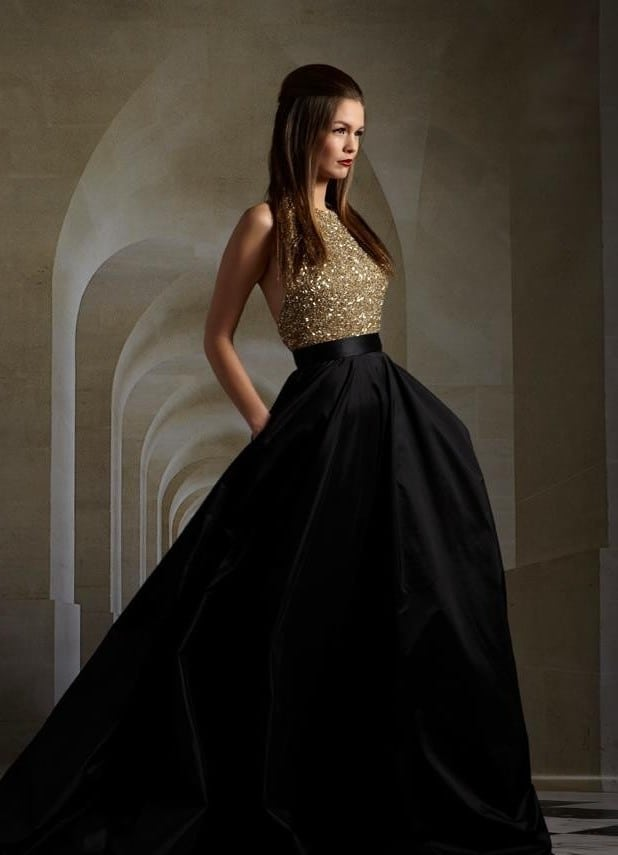 Latest Black Evening A-line Dresses 2016