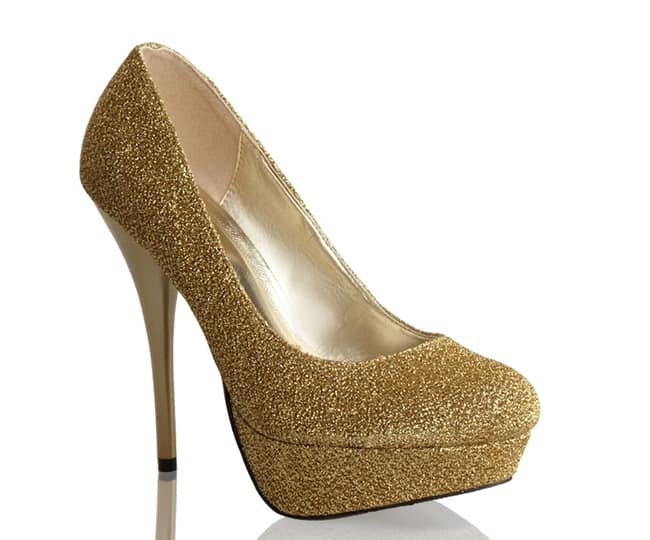 Latest Bridal Gold Prom Shoes 2016