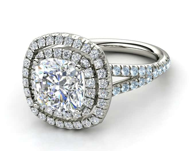 Latest Cushion Engagement Rings Designs