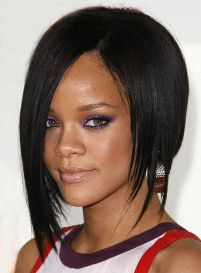 the gallery for gt bob hairstyles rihanna