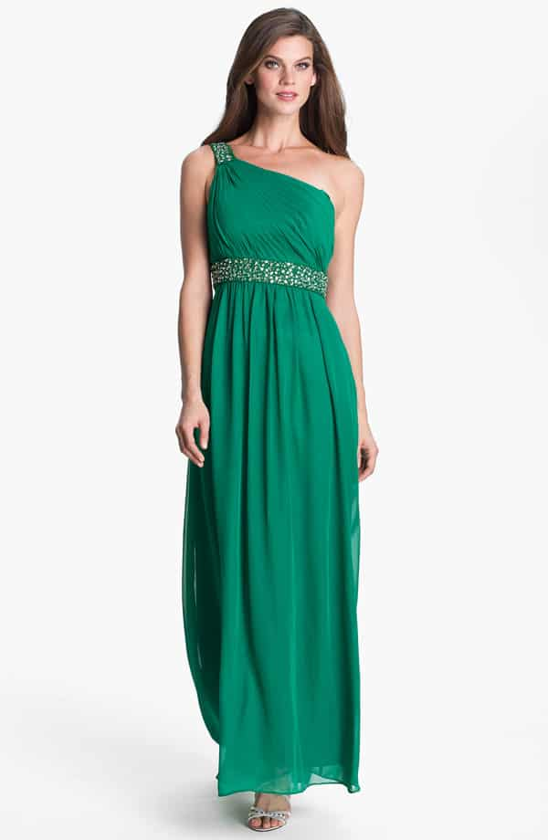 Long Green Bridesmaid Wedding Dresses