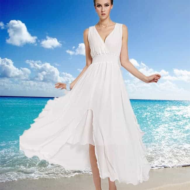 Long White Summer Dresses for Women