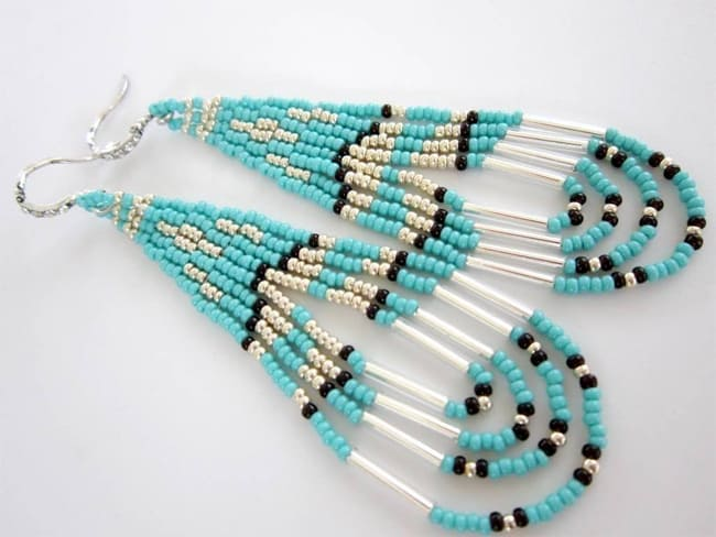 Native Style Beaded Earring Designs for Women