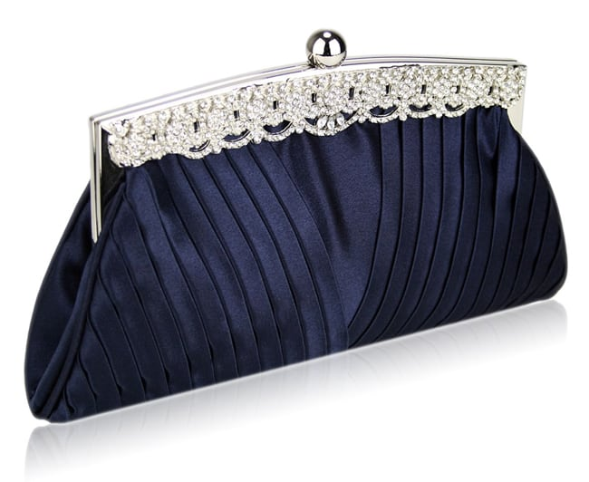 Navy Blue Evening Bags Clutches for Girls