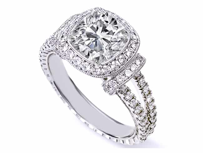 New Cushion Cut Diamond Engagement Ring 2016