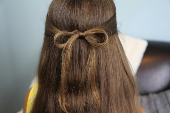 Hair Bow Styles: 20 Cute Easy Hairstyles Collection 2017