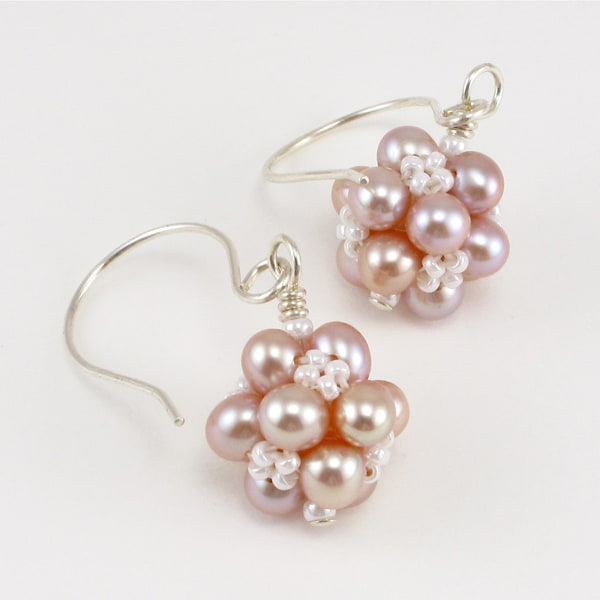 New Light Clusters Bead Earrings for Brides