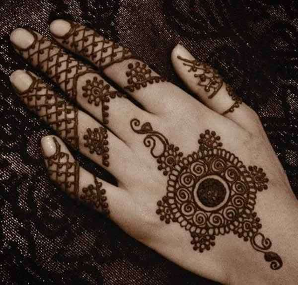 New Traditional Circle Mehndi Designs for Eid