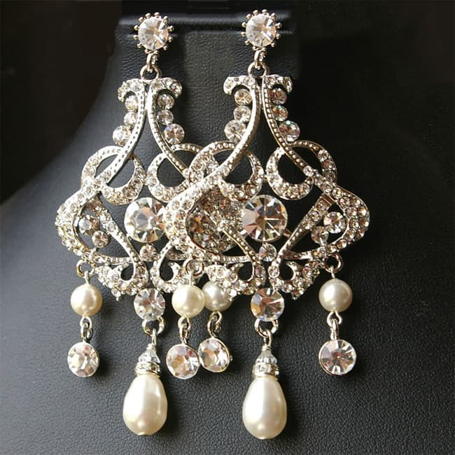Pearl Chandelier Wedding Earrings 2016