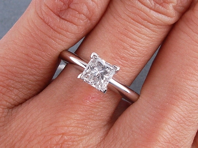 Princess Cut Cushion Engagement Rings for Brides