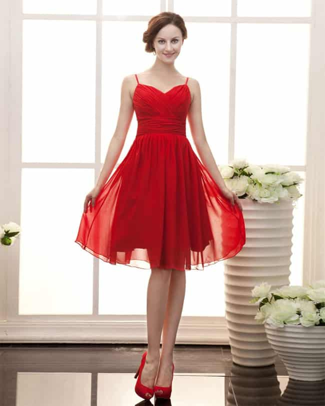 Red Wedding Dresses for Bridesmaids 2016-17